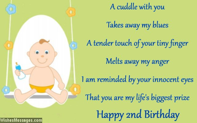 2nd birthday message for my son ; Cute-second-birthday-card-message