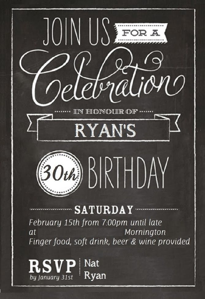 30th birthday invitation card template ; 30th-birthday-invitations-for-him-together-with-a-picturesque-view-of-your-Birthday-Invitation-Templates-using-interesting-invitations-13