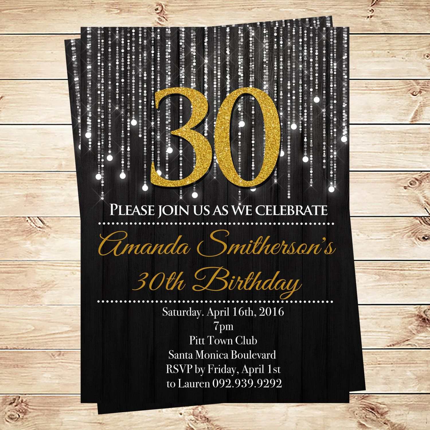 30th birthday invitation templates free download ; fdbc3beac610bd219f528acd454950f2