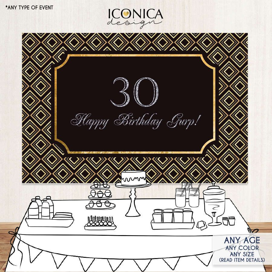 30th birthday photo backdrop ; 0e50efa51f30d5aaf204b993d0052442