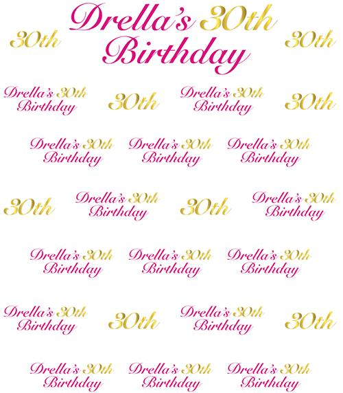 30th birthday photo backdrop ; 18cf66f2a9611dd511d448c52780ed2d