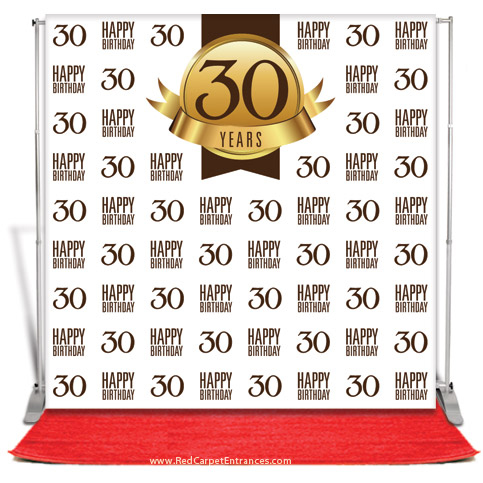 30th birthday photo backdrop ; 30th-birthday-backdrop-30th-birthday-backdrop-red-carpet-kit-white-8x8-30-birthday