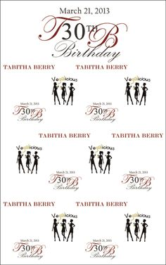 30th birthday photo backdrop ; b5d6224be07919996f1f7568269c2437--th-birthday-birthday-ideas
