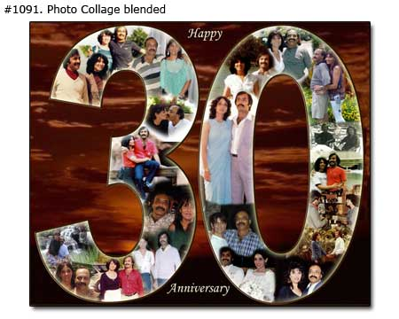 30th birthday photo collage ; 1091_01-Anniversary-Collage-Blended