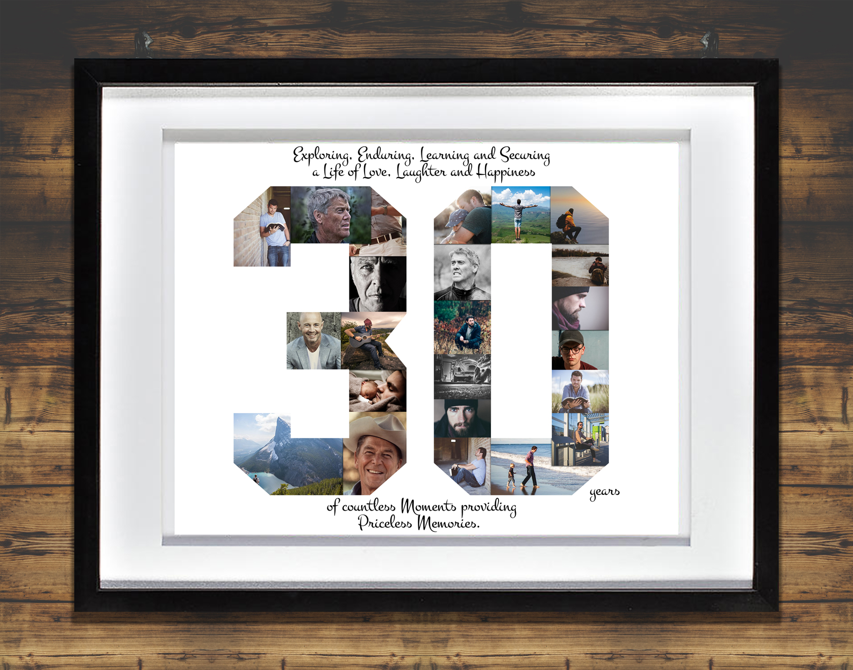 30th birthday photo collage ; 30th-Birthday-Collage_with_WHT-FRAME_and_BCKDRP