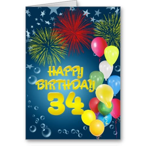 34th birthday card ; 173b8356de1ff33027f92aaef5a5d1e5--th-birthday-cards-st-birthday