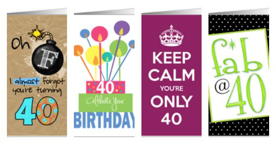 34th birthday card ; 40th-birthday-cards
