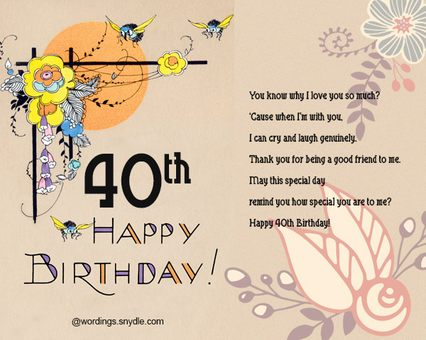 40th birthday message for a special friend ; 40th-birthday-wishes-and-card-03