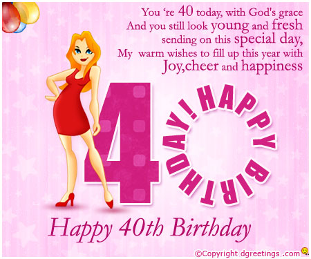40th birthday message for a special friend ; You-Are-40-Today