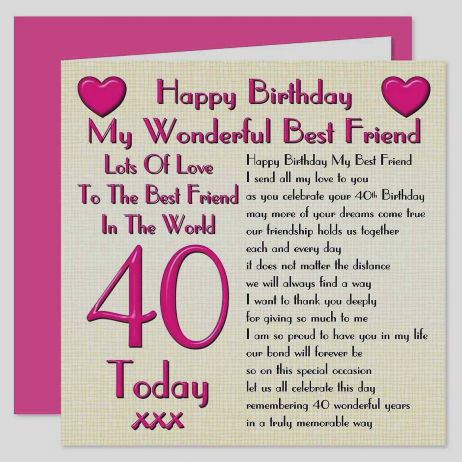 40th birthday message for a special friend ; elegant-of-40th-birthday-greeting-cards-quality-happy-card-messages-th-special-friend
