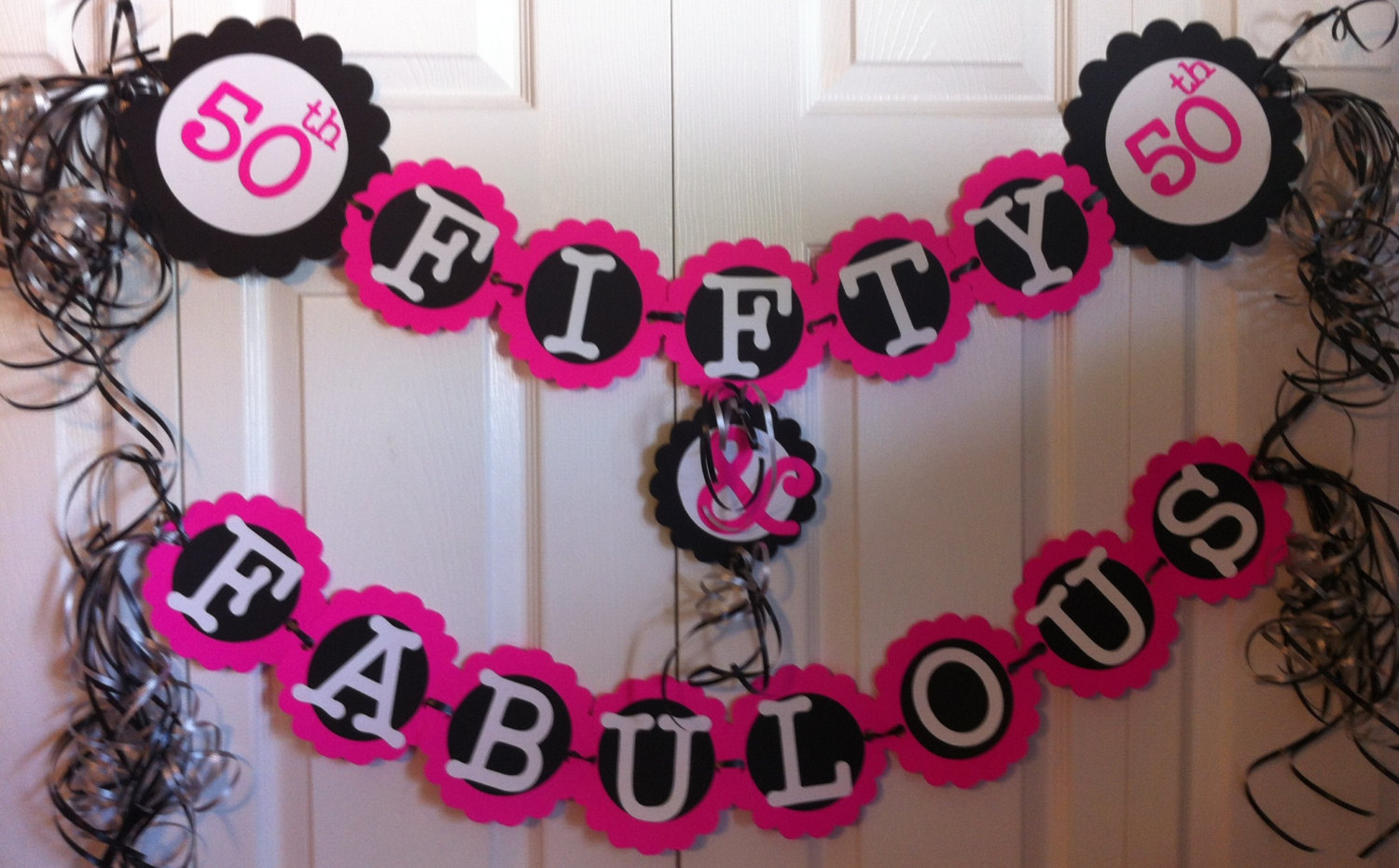 50th birthday design ideas ; 50th-birthday-party-decorations-black-and-white