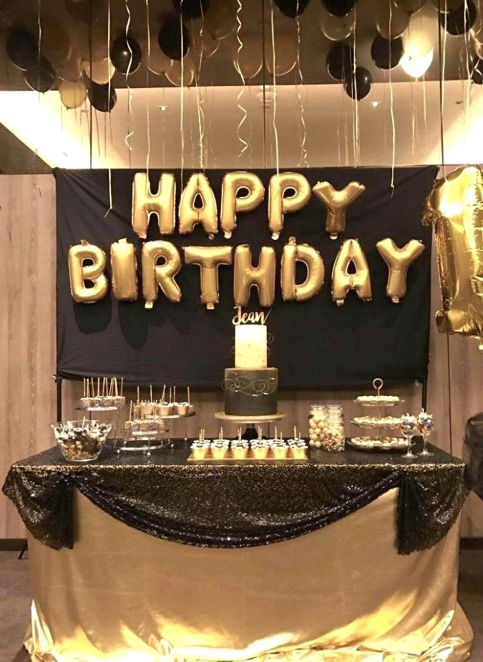 50th birthday design ideas ; 50th-birthday-party-decorations-photo-1-of-9-birthday-decoration-ideas-design-ideas-1-dessert-table-for-black-and-gold-birthday-party-50th-birthday-party-decoration-ideas-at-home