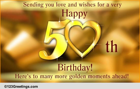 50th birthday greeting cards ; 111119_pc