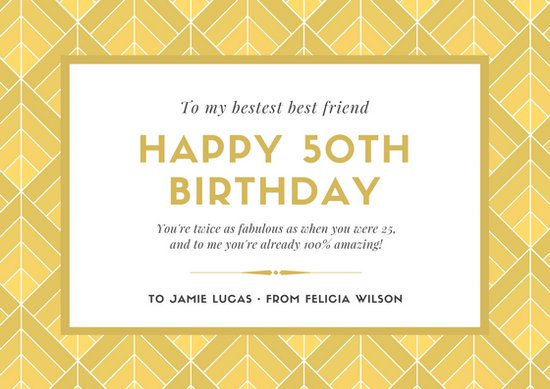 50th birthday greeting cards ; canva-gold-%2526-white-art-deco-50th-birthday-greeting-card-MACT3VhIucw