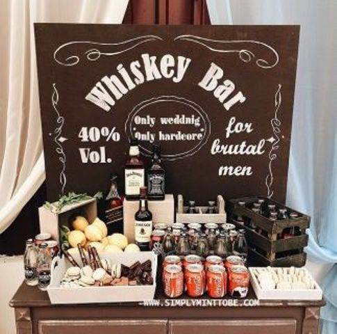 50th birthday party ideas ; 03-a-whiskey-bar-is-a-must-for-a-50th-birthday-party