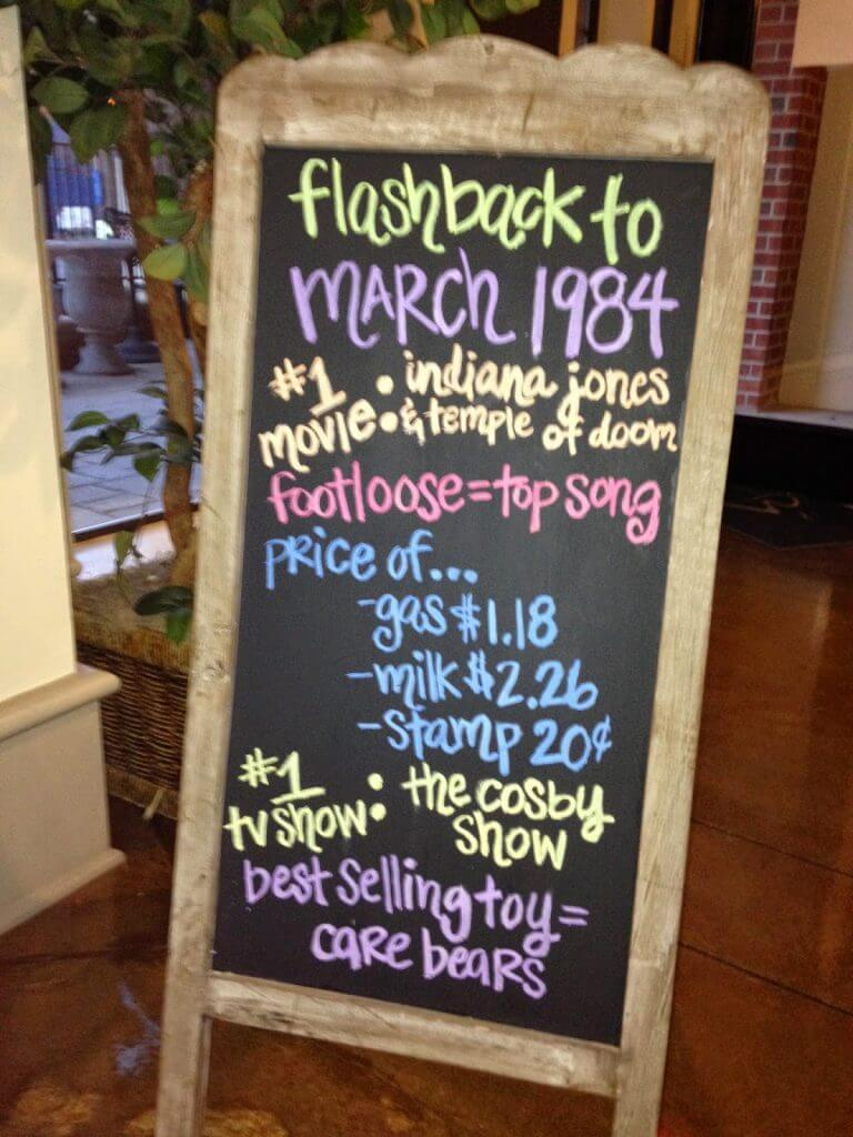 50th birthday party ideas ; flashback-768x1024
