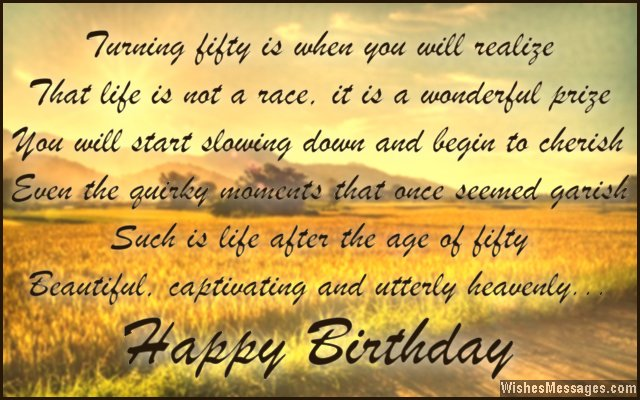 50th birthday picture quotes ; Sweet-birthday-quote-for-50-year-old