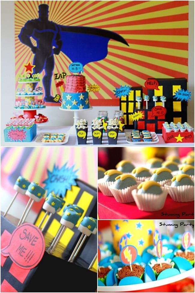 5th birthday themes ; superhero-birthday-party-ideas-3