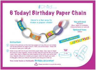 6 year old birthday poem ; Paper_Chain_general_6