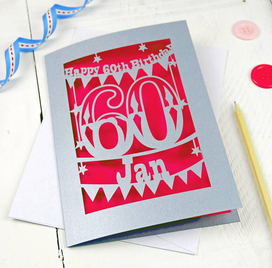 60th birthday card images ; original_personalised-papercut-60th-birthday-card