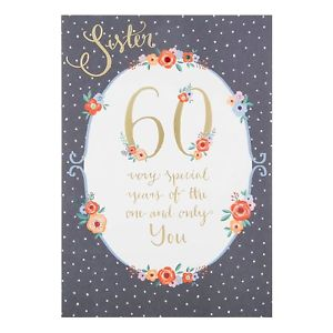 60th birthday card images ; s-l300