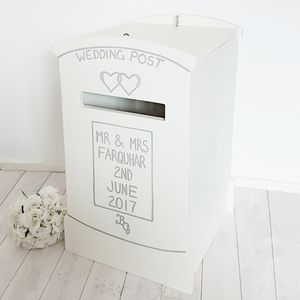 60th birthday card post box ; preview_lockable-wooden-wedding-post-box