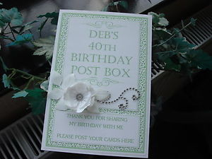 60th birthday card post box ; s-l300