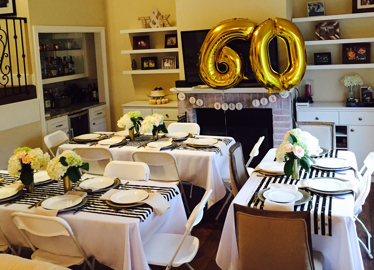 60th birthday color motif ; 60th-birthday-party-ideas-for-mom-6