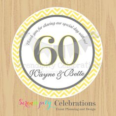 60th birthday favor tags ; 5c330dfd55a5dc2ab3010e38e2adb84f--parents-anniversary-personalized-favors