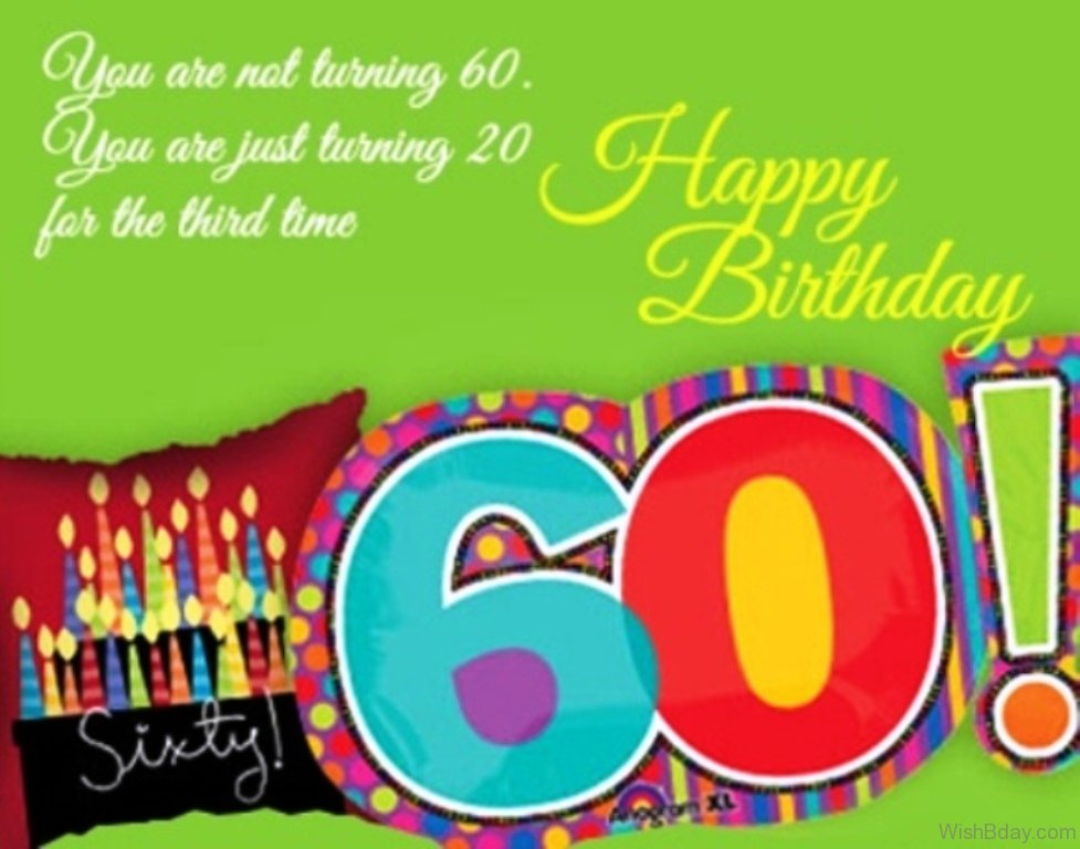 60th birthday wishes ; You-Are-Not-Turning-Sixty