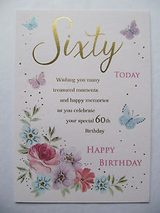 60th birthday wishes ; s-l300