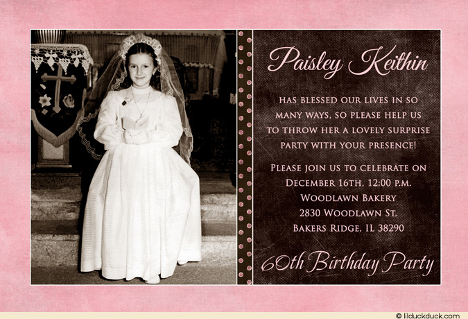 60th birthday wording for card ; pink-brown-surprise-60th-birthday-invitation-woman-l1