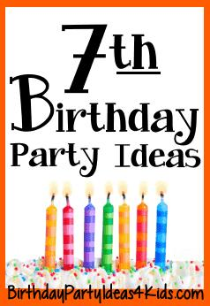 7 treasures for 7th birthday message ; 7-birthday-party-ideas