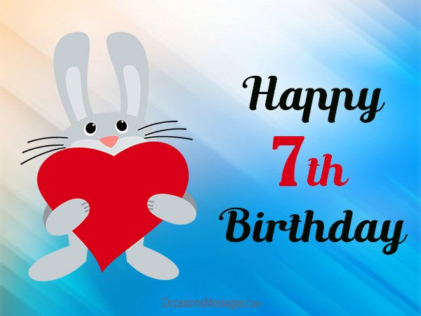 7 treasures for 7th birthday message ; happy-7th-birthday-messages