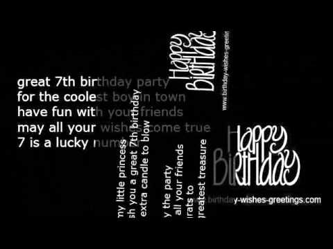 7 treasures for 7th birthday message ; hqdefault-2