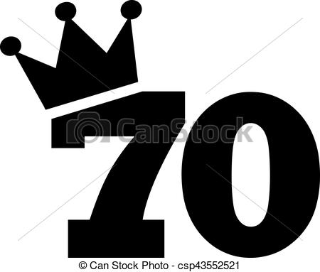 70th birthday clip art ; 70th-birthday-number-crown-illustration_csp43552521