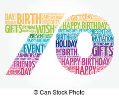 70th birthday clip art ; happy-70th-birthday-word-cloud-collage-concept-image_csp40242779