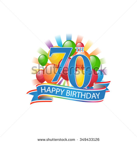 70th birthday clip art ; stock-vector--th-colorful-happy-birthday-logo-with-balloons-and-burst-of-light-349433126