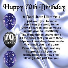 70th birthday message for dad ; 657dc8381db88aadae55a05166ac7646--dad-poems-dad-gifts