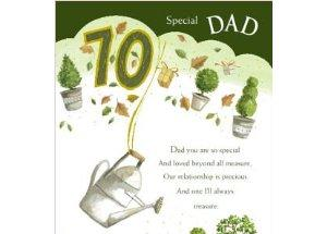 70th birthday message for dad ; Dad-Greeting-Card