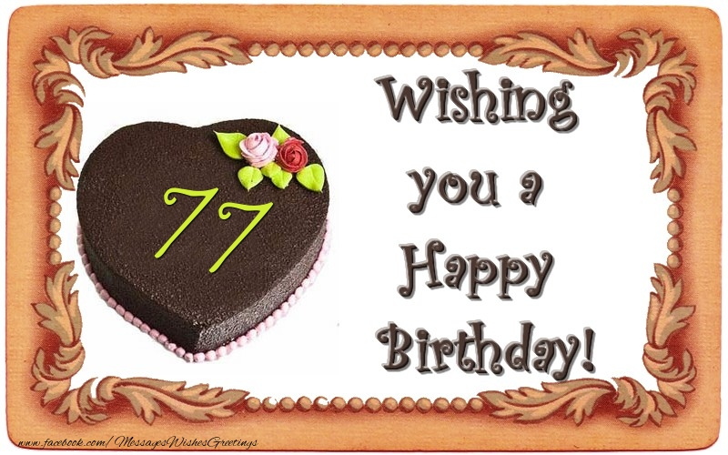 77 birthday card ; 77-years-194