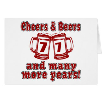 77 birthday card ; cheers_and_beers_77_birthday_designs_card-r83cf73daf9404e71944a389d2648a3e3_xvuak_8byvr_324