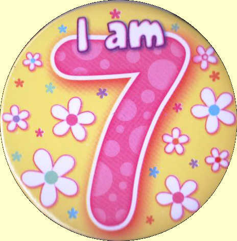 7th birthday background ; 7th%2520Birthday%2520Badge%2520Flowers