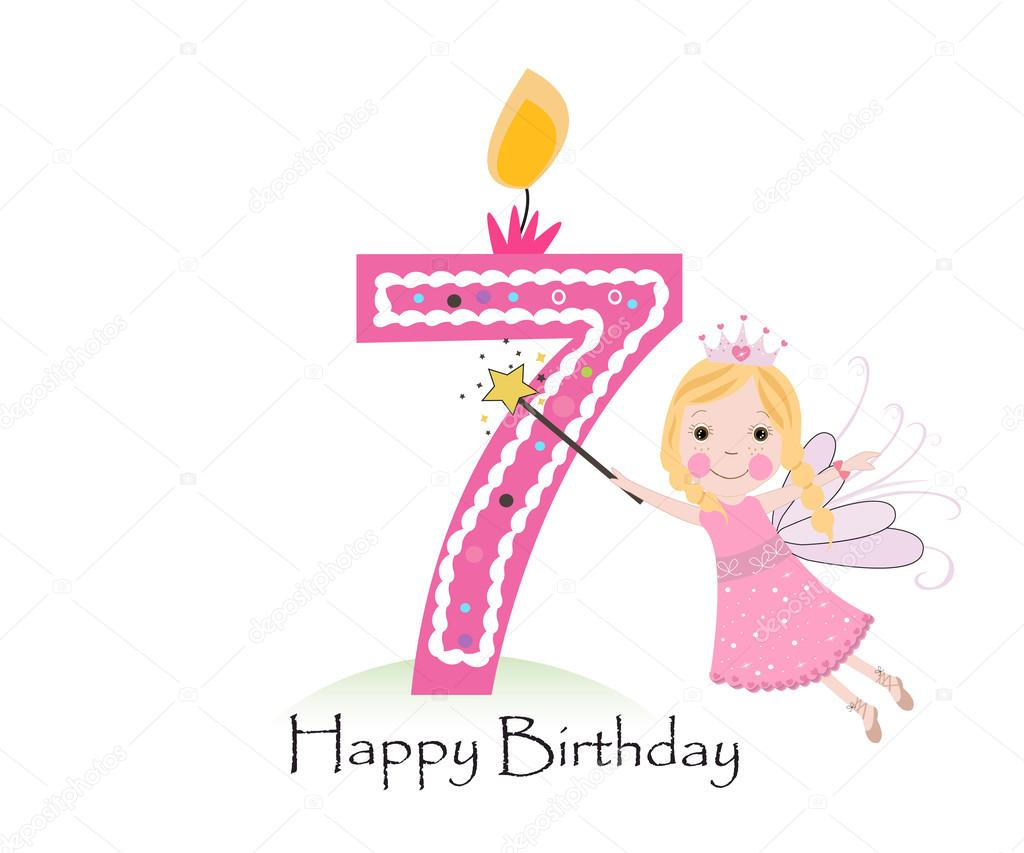 7th birthday background ; depositphotos_107583960-stock-illustration-happy-seventh-birthday-candle-baby
