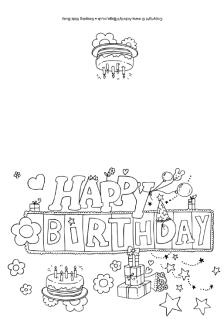 7th birthday card printable ; happy_birthday_colouring_card_320