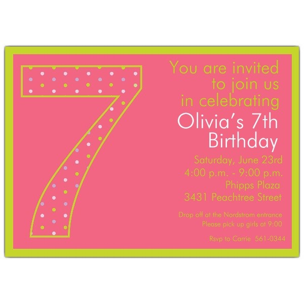 7th birthday invitation message ; Stylish-7Th-Birthday-Invitation-Wording-Which-Can-Be-Used-As-Birthday-Party-Invitation-Template