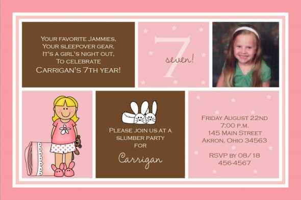 7th birthday message for girl ; 7th-birthday-invitations