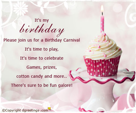 7th birthday message for girl ; please-join-us