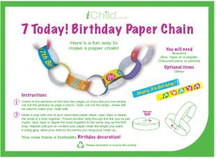 7th birthday poem ; Paper_Chain_general_7