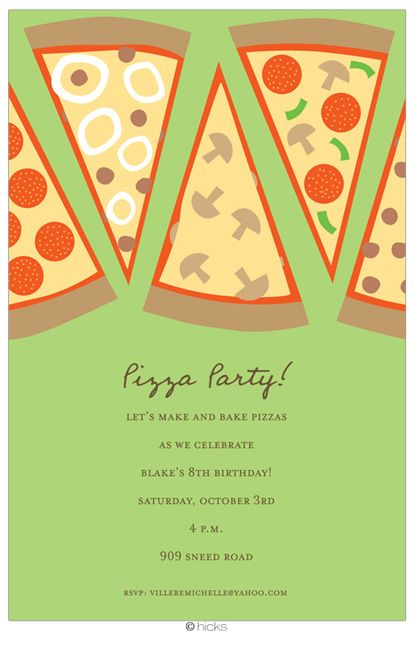 8th birthday invitation templates ; 38a659c9ac5e3f213af4d90318fb1774--pizza-party-birthday-birthday-party-invitations